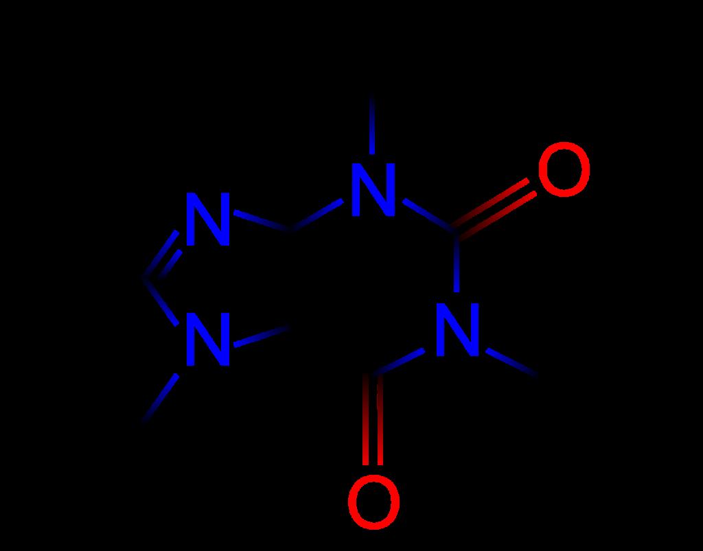 Chemical formula of caffeine