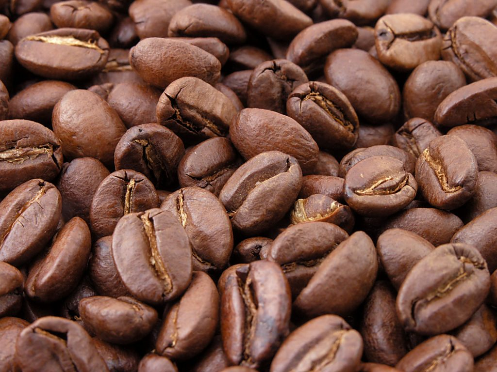 Light roast coffee beans
